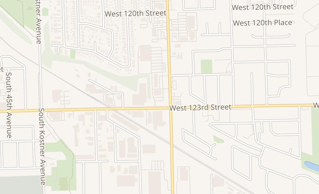 map of 12290 S Pulaski RdAlsip, IL 60803