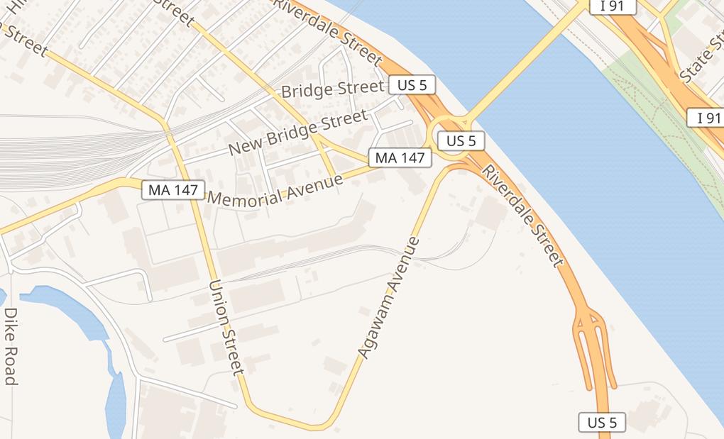 map of 233 Memorial AveW Springfield, MA 01089