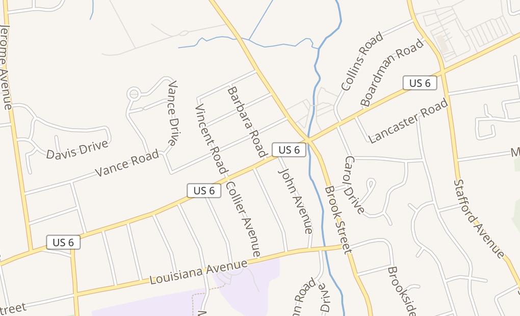 map of 815 Farmington AveBristol, CT 06010