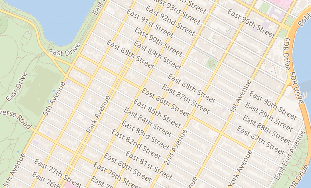 map of 169 E 86Th StNew York, NY 10028