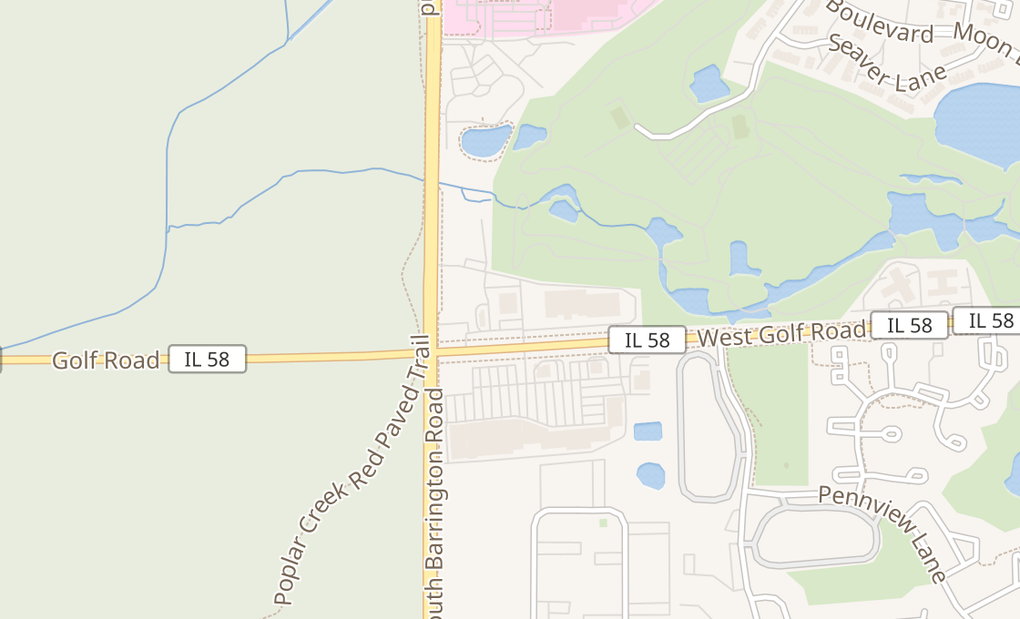 map of 2560 W Golf RdHoffman Estates, IL 60169