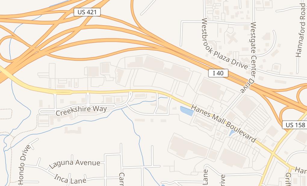 map of 949 Hanes Mall BlvdWinston Salem, NC 27103