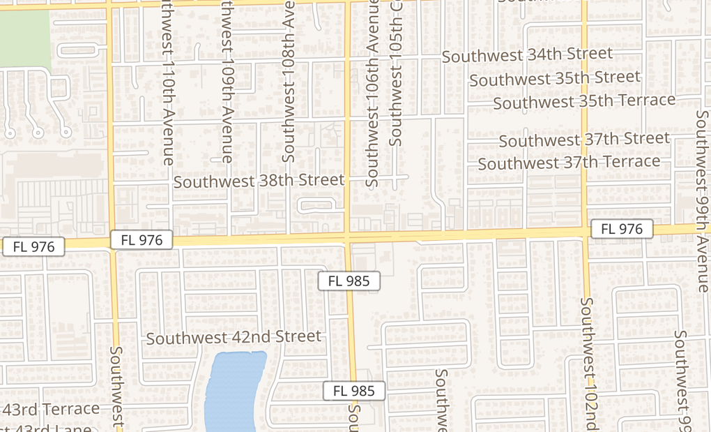 map of 10613 SW 40th StMiami, FL 33165