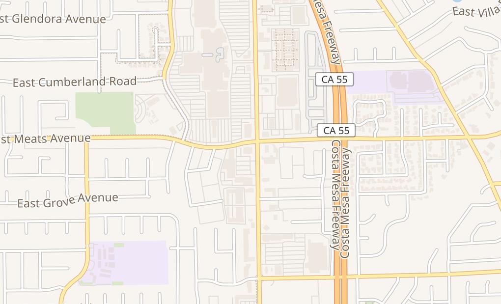 map of 2094 N Tustin St Ste A1Orange, CA 92865