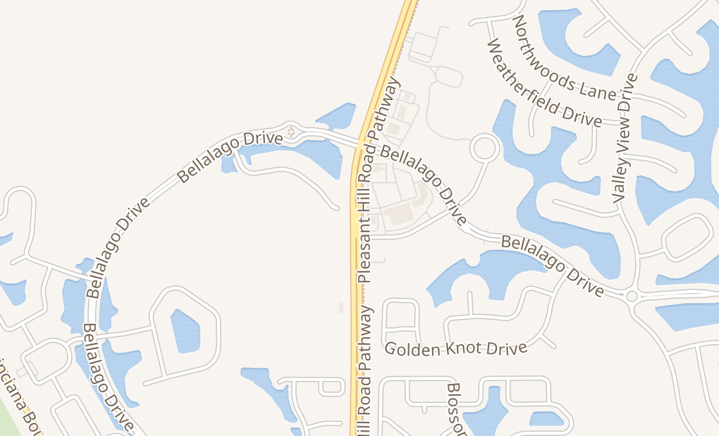map of 3843 Pleasant Hill Rd # A102Kissimmee, FL 34746