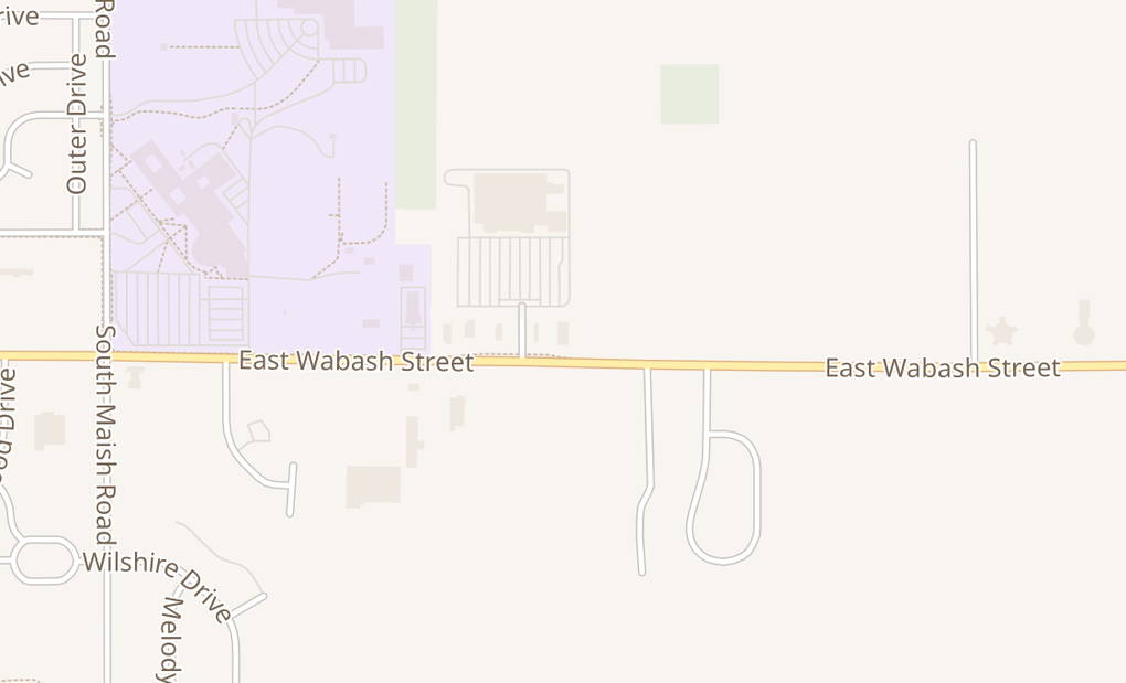 map of 2488 E Wabash StFrankfort, IN 46041