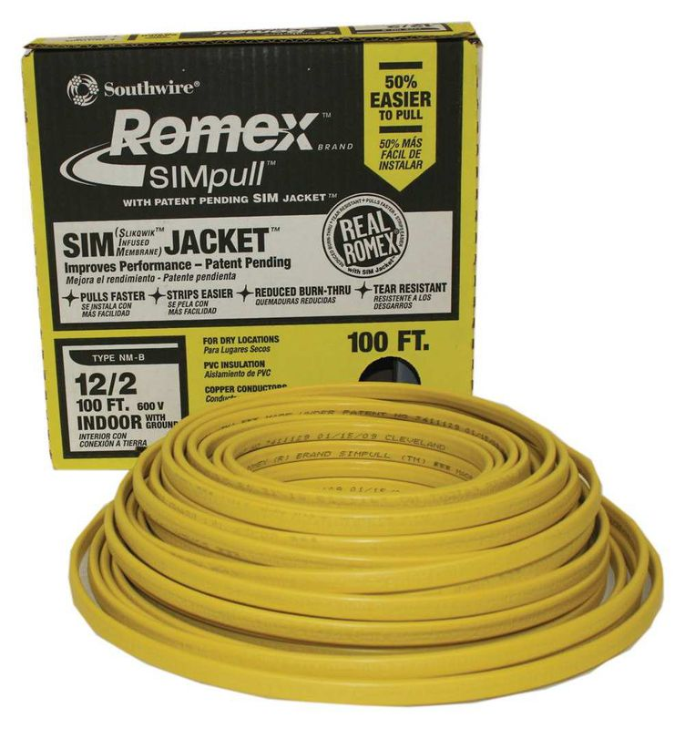 Romex 12/2 with Ground Electrical Wire 100 ft. Coil - Evansville, IN ...