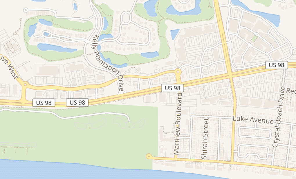 map of 34761 Emerald Coast PkwyDestin, FL 32541