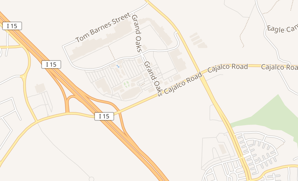 map of 3580 Grand Oaks D3-101Corona, CA 92881