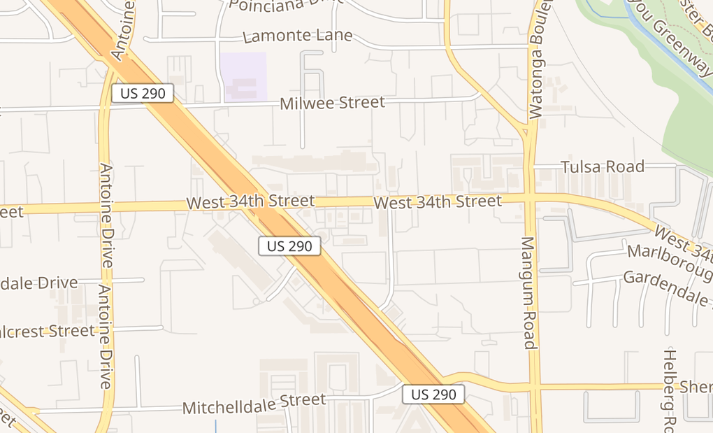 map of 5185 W 34th St Ste 300Houston, TX 77092
