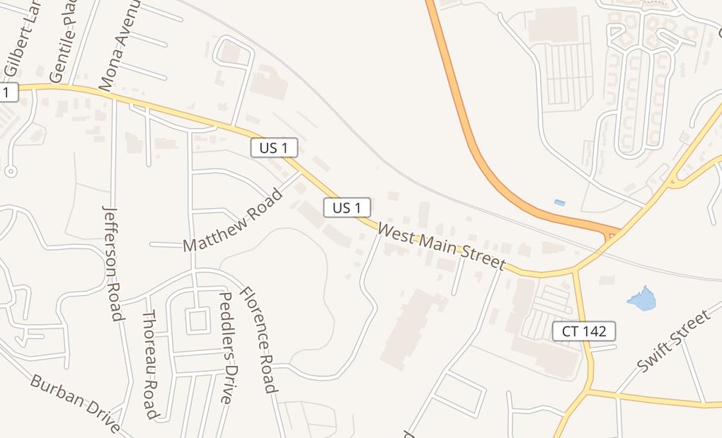 map of 845 W Main St Ste 8Branford, CT 06405