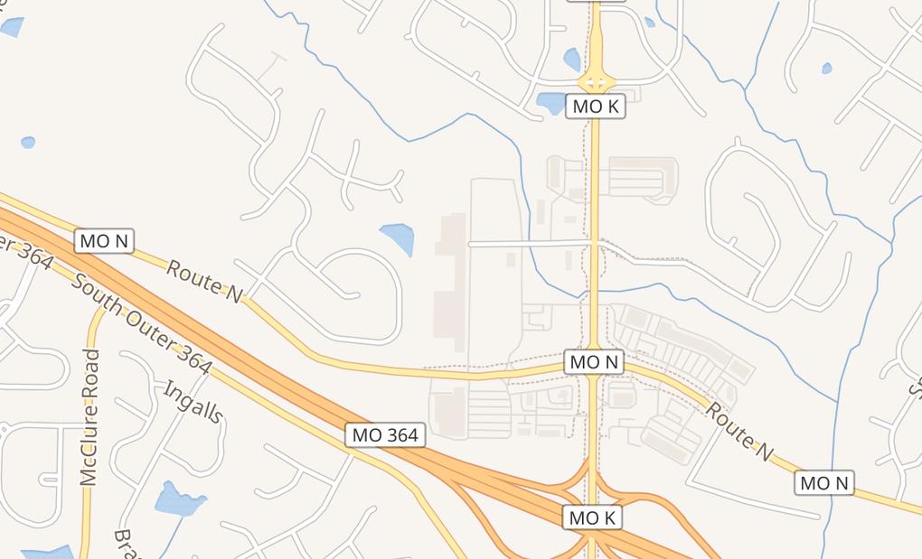 map of 2963 Highway KO Fallon, MO 63368
