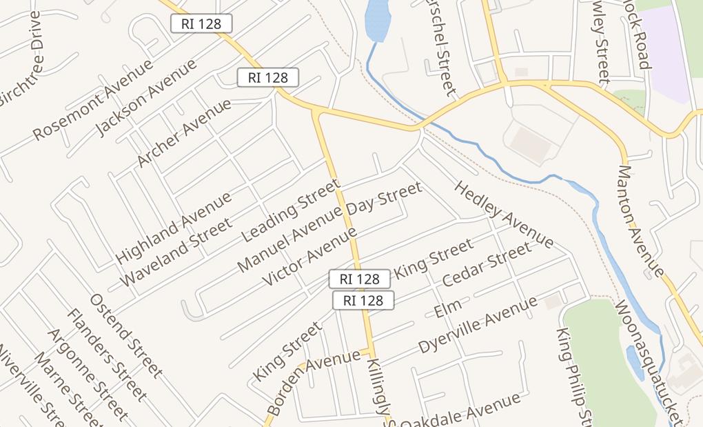 map of 653 Killingly St Ste AJohnston, RI 02919