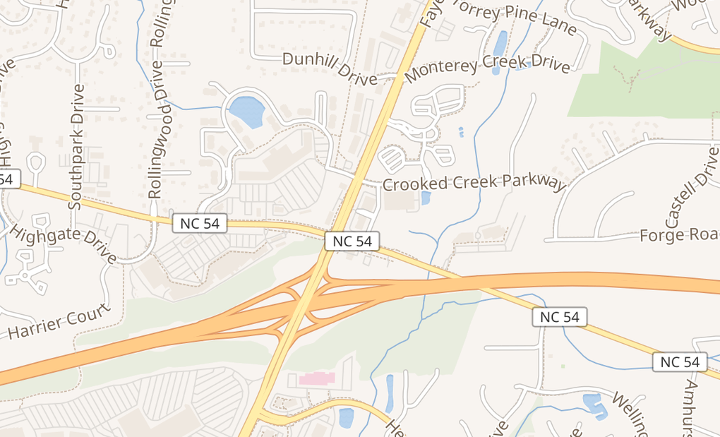 map of 6409 Fayetteville Rd Ste 110Durham, NC 27713