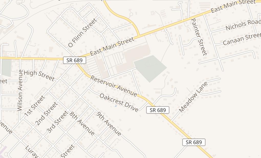 map of 2 E Luray Shopping CtrLuray, VA 22835