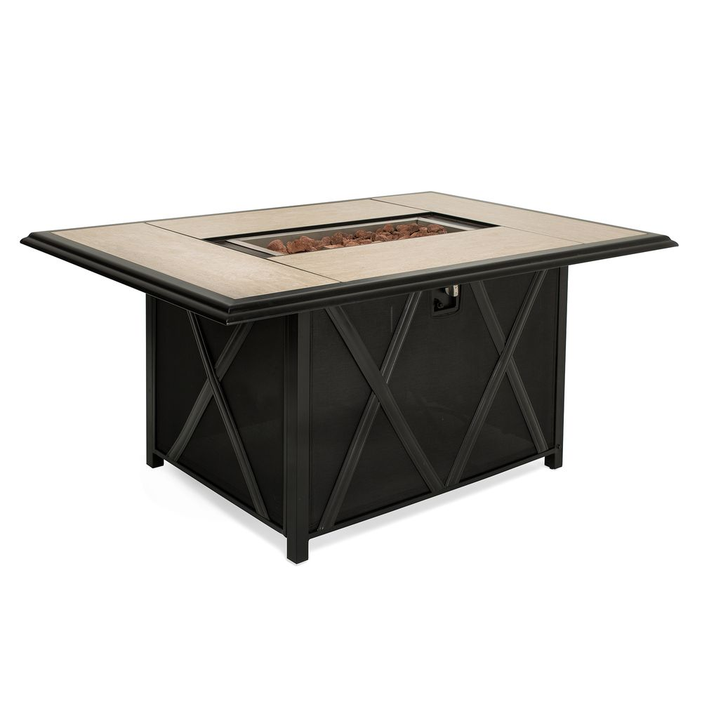 fire pit dining table. La-Z-Boy Outdoor Emerson Firepit Dining Table - La Z Boy Fire Pit