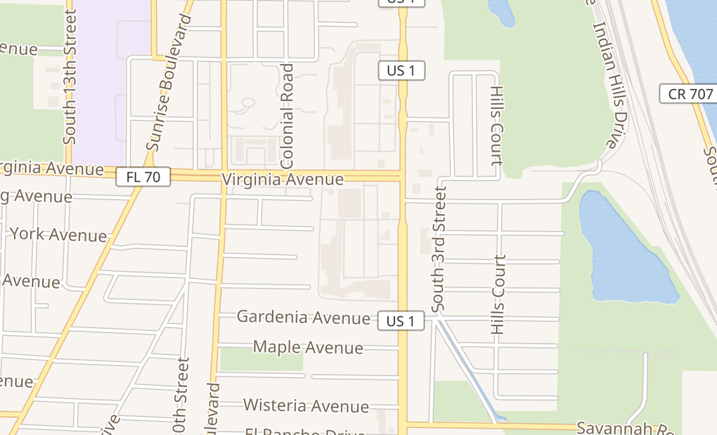 map of 2315 S Federal HwyFort Pierce, FL 34982