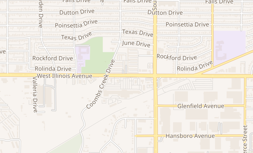 map of 3434 W Illinois Ave Ste 302-3Dallas, TX 75211
