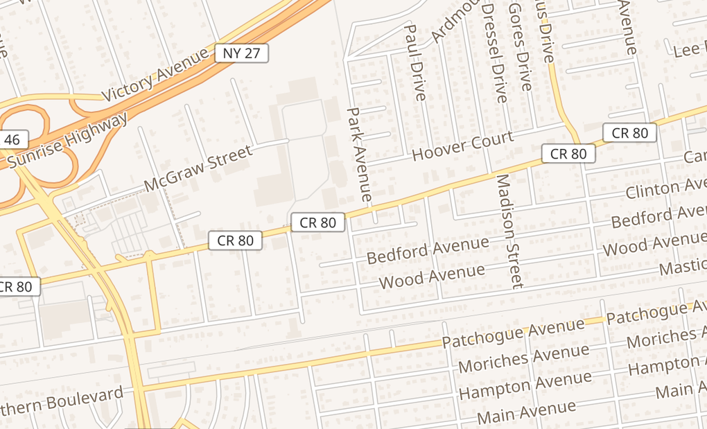 map of 1029 Montauk HwyShirley, NY 11967