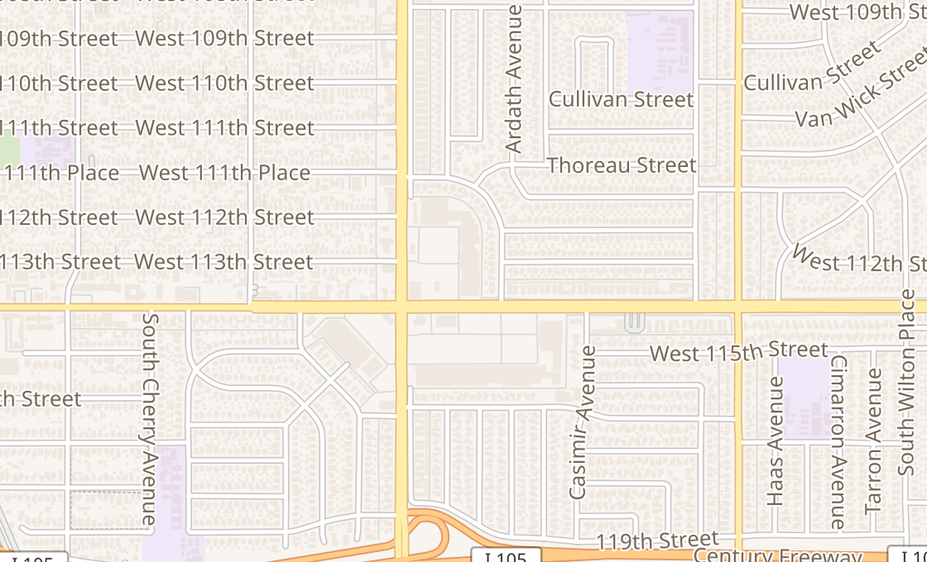 map of 11336 Crenshaw BlvdInglewood, CA 90303