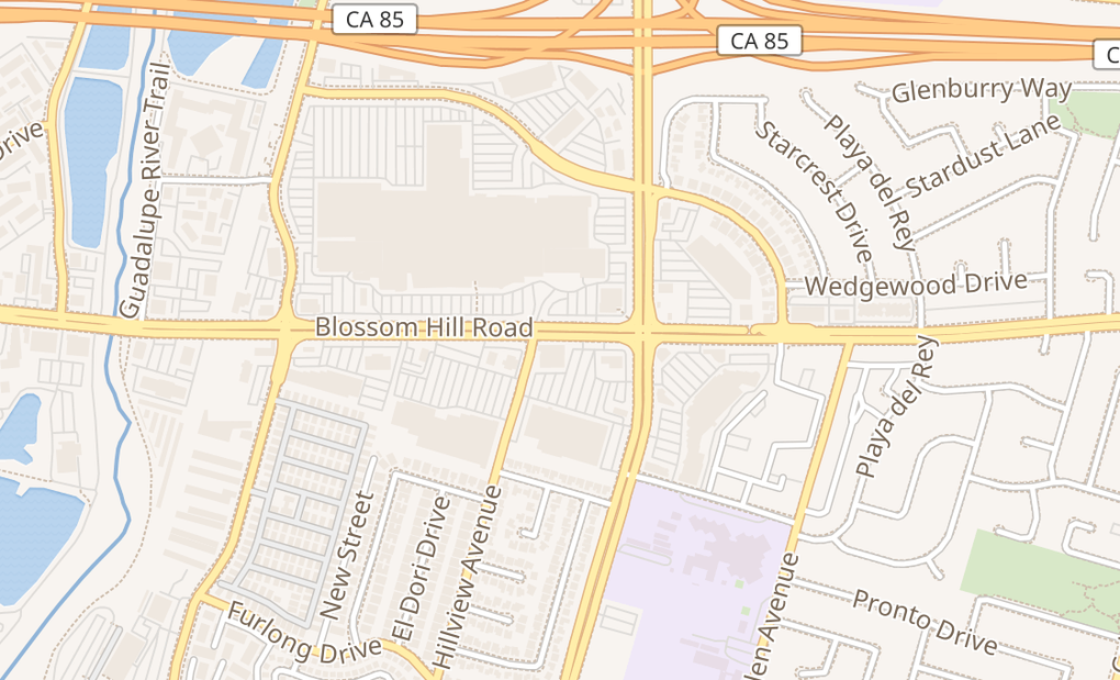 map of 888 Blossom Hill RdSan Jose, CA 95123
