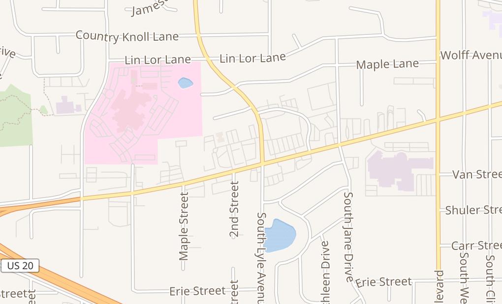 map of 1700 Larkin AveElgin, IL 60123
