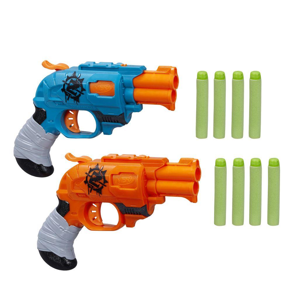 Nerf Zombie Strike Doublestrike Blaster 2 Pack Hastings Mi At