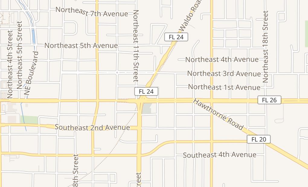 map of 1120 E University AveGainesville, FL 32641