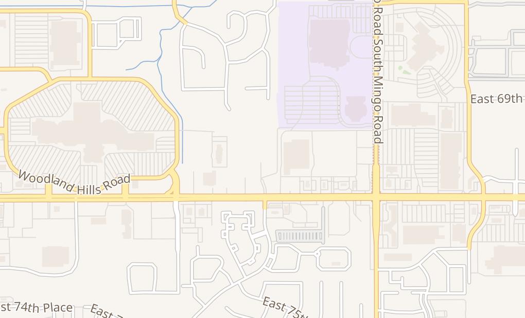 map of 9211 E 71St StTulsa, OK 74133