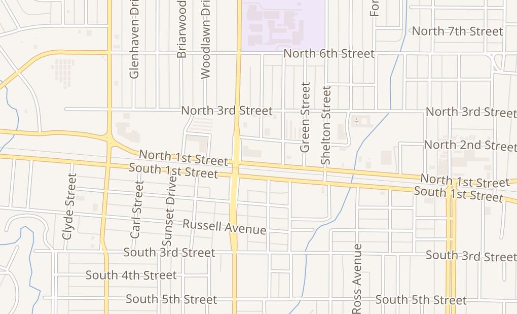 map of 2910 N First StAbilene, TX 79603