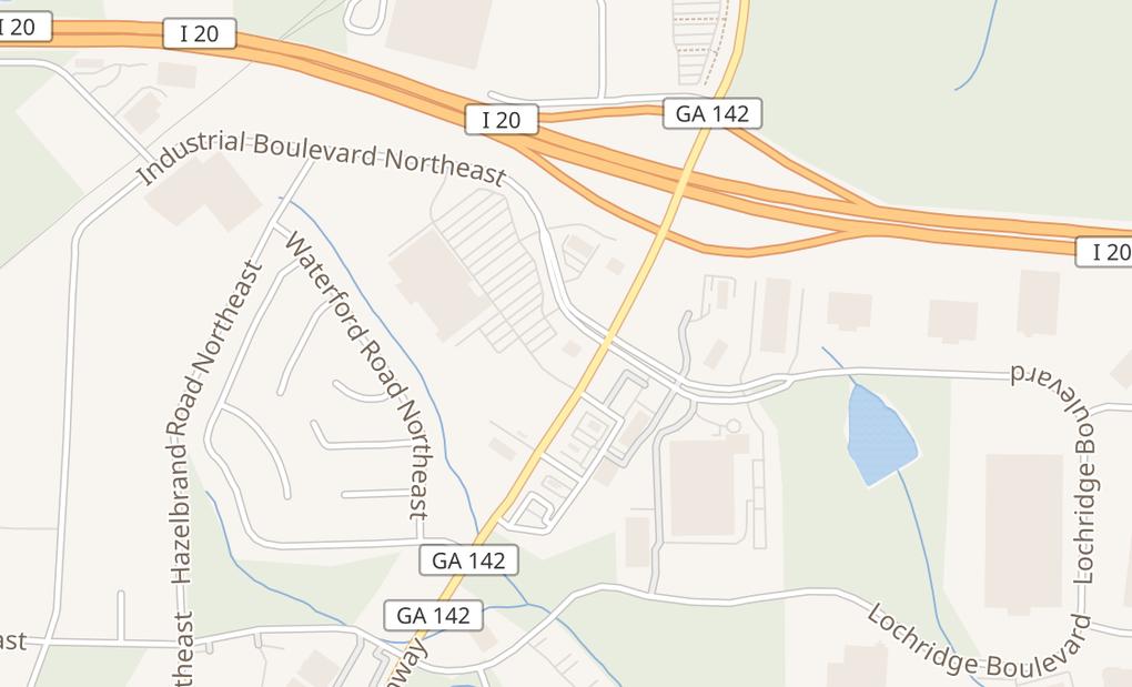map of 10342 Industrial BlvdCovington, GA 30015