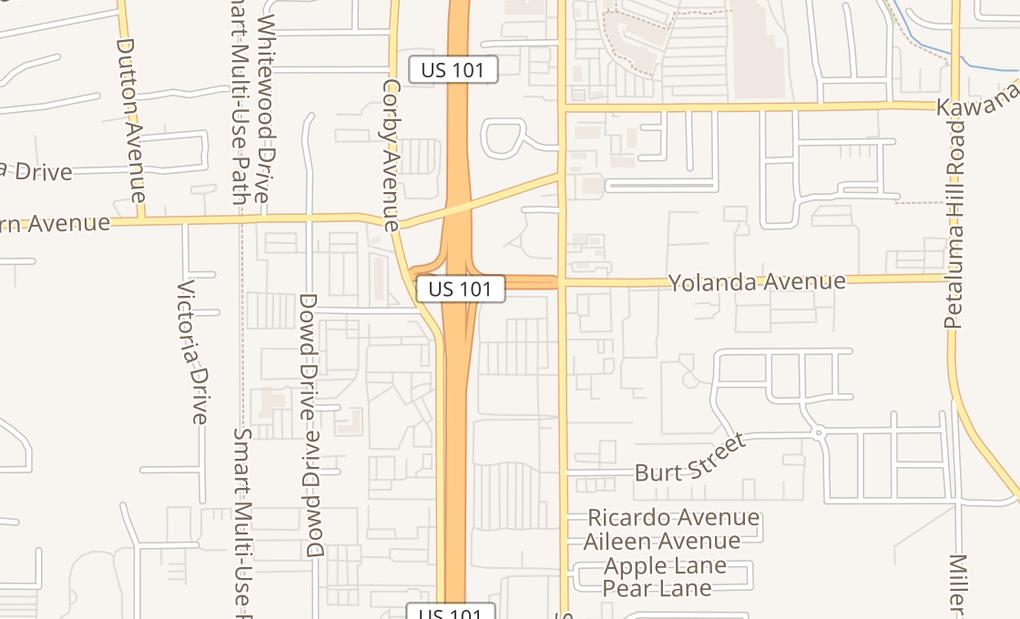 map of 2673 Santa Rosa AveSanta Rosa, CA 95407
