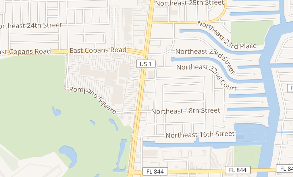 About Sprint 2050 N Federal Hwy - Pompano Beach, FL on map of san diego beaches, map of south daytona fl, map of tampa and pompano,