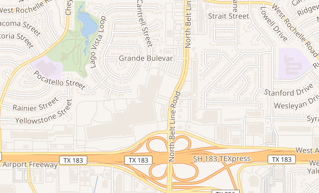map of 3880 Irving Mall Spc KI11Irving, TX 75062
