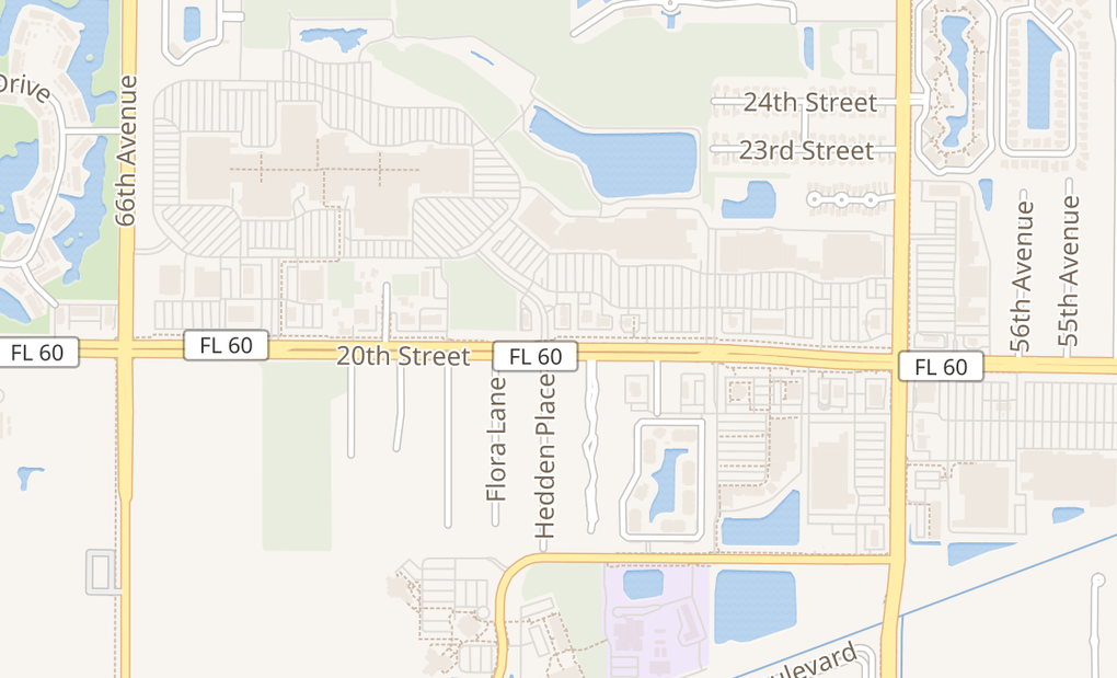 map of 6180 20th StVero Beach, FL 32966