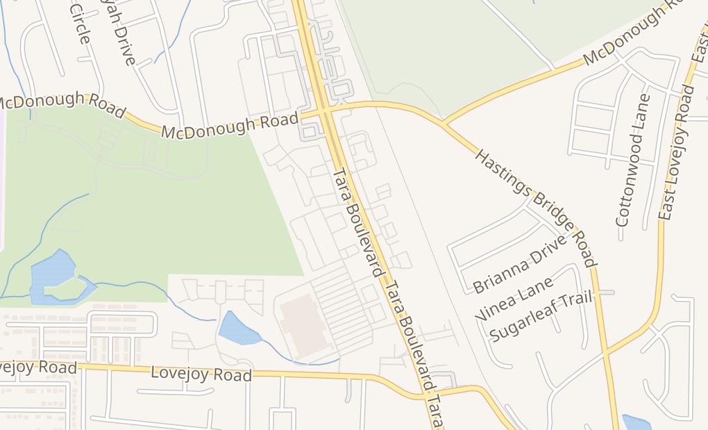 map of 11379 Tara Blvd Ste 1Hampton, GA 30228
