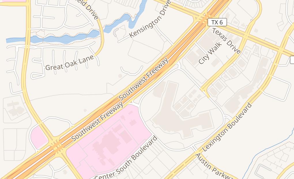 map of 16535 Southwest Fwy Ste 40215Sugar Land, TX 77479