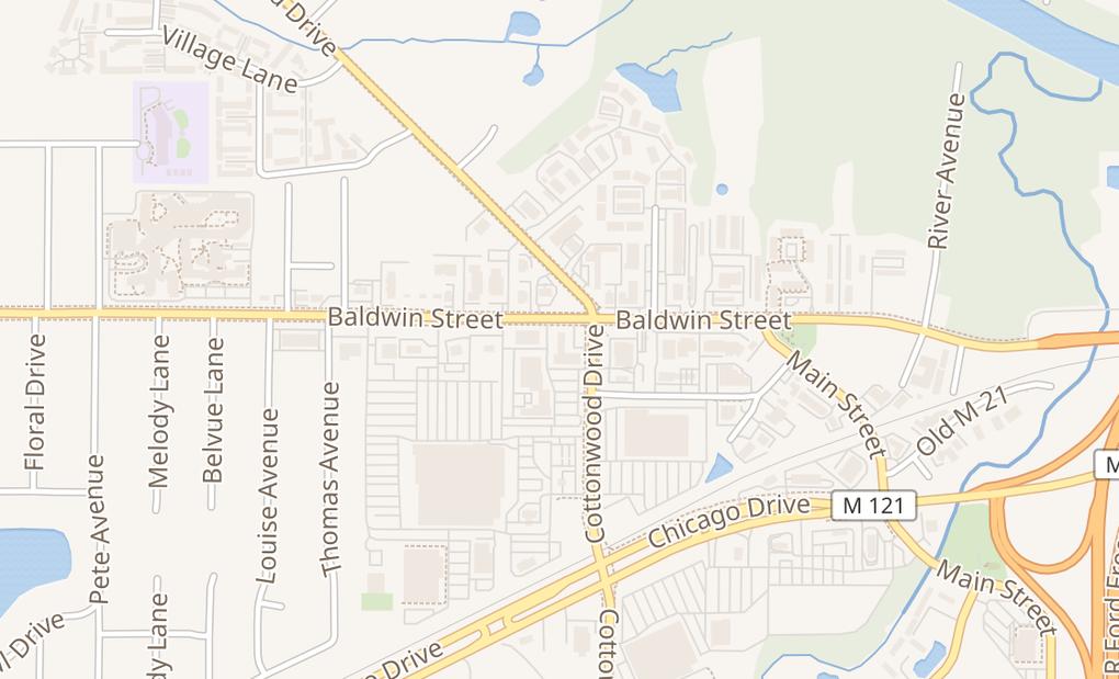 map of 420 Baldwin StJenison, MI 49428