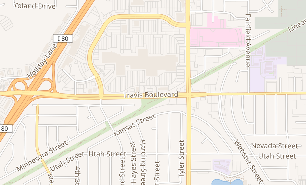 map of 1350 Travis Blvd Ste K-013Fairfield, CA 94533