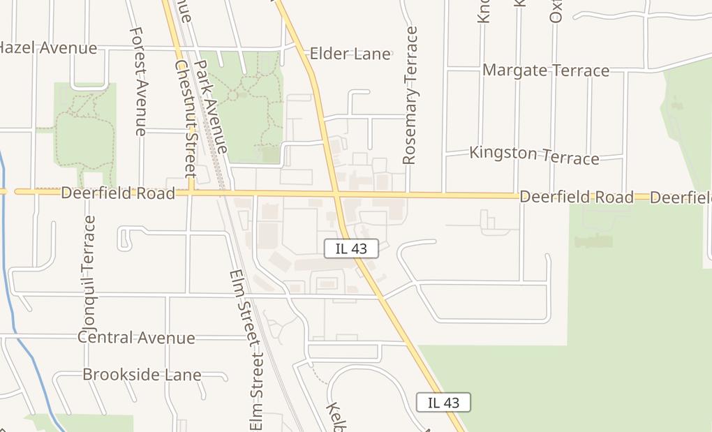 map of 780 Waukegan RdDeerfield, IL 60015