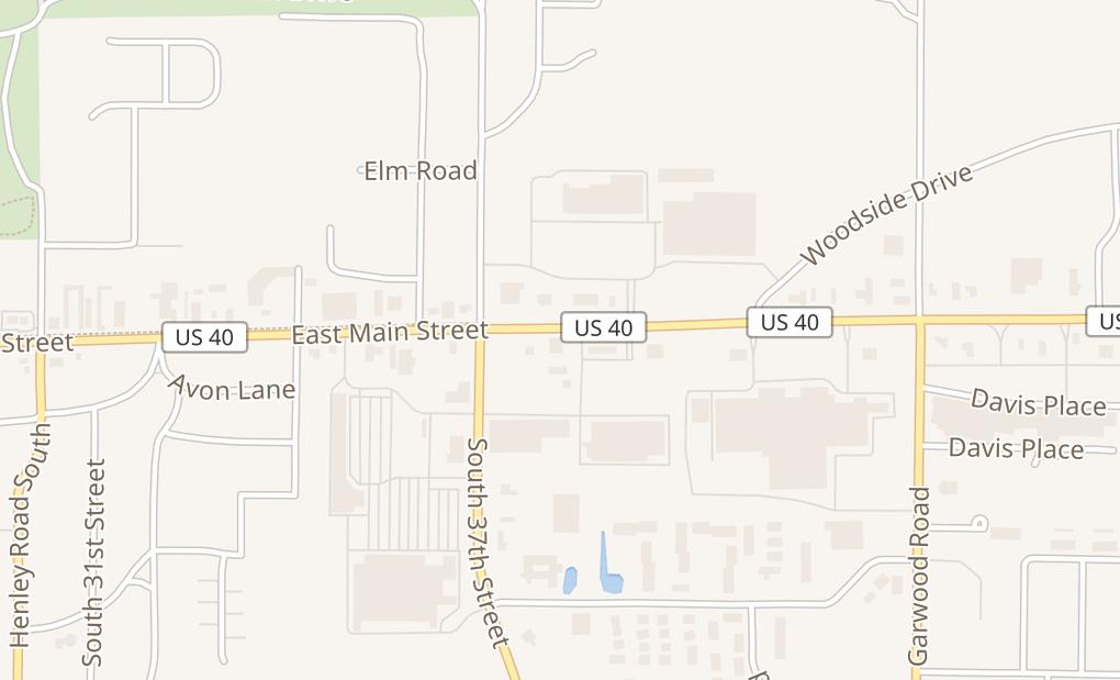 map of 3721 E Main StRichmond, IN 47374