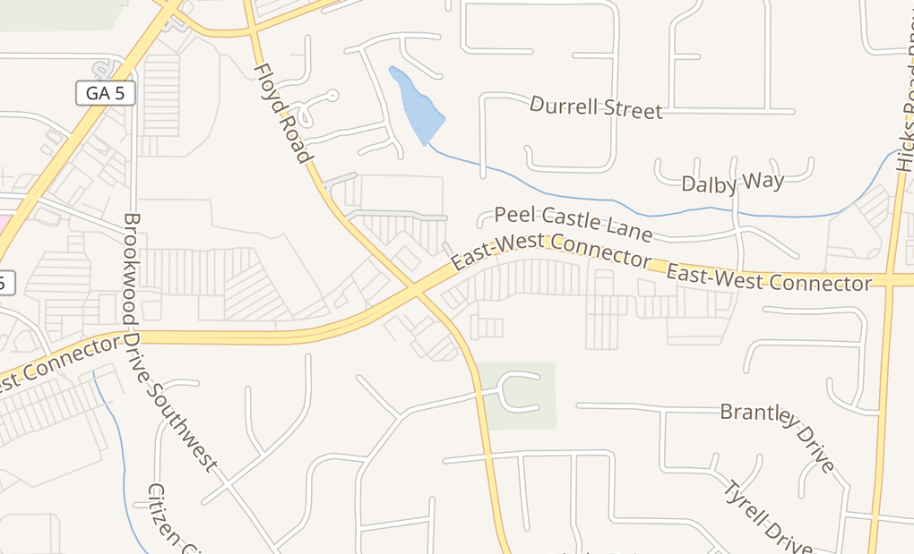 map of 1133 E West ConnectorAustell, GA 30106