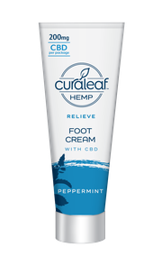 Hemp CBD Foot Cream - Peppermint at Curaleaf Queens - Pick-up Only