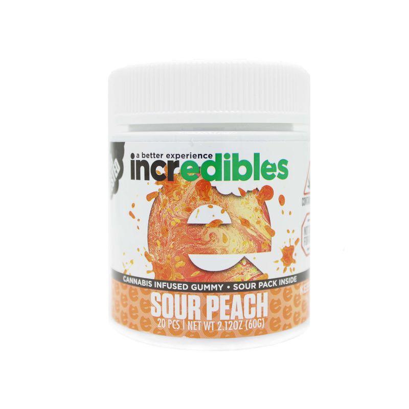 Incredibles Sour Peach Gummy | 100mg - GTI