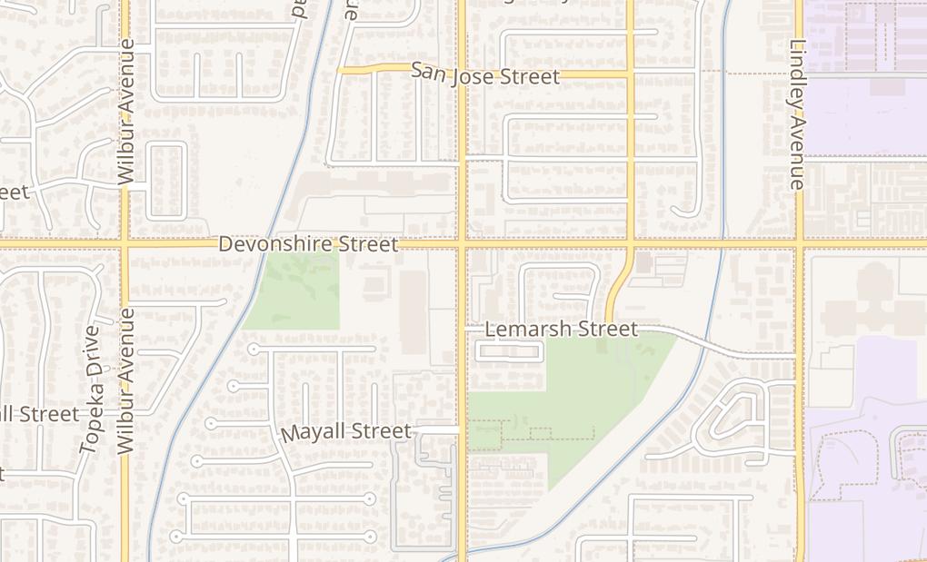 map of 10242 Reseda BlvdNorthridge, CA 91324