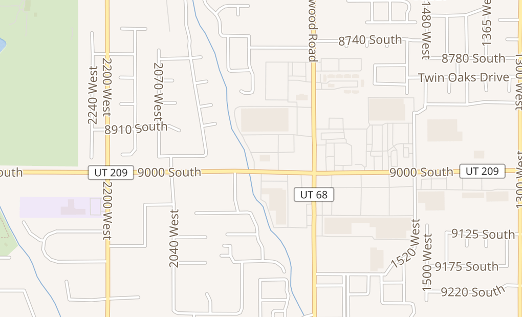 map of 1828 W 9000 SWest Jordan, UT 84088