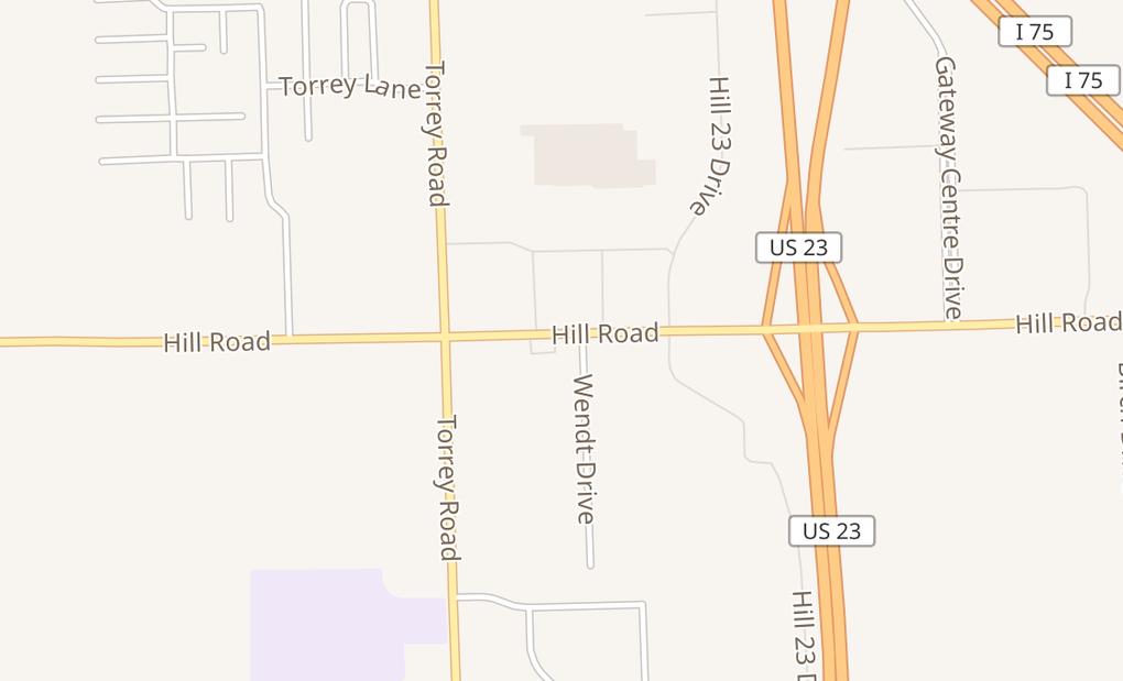map of 2457 W Hill RdFlint, MI 48507
