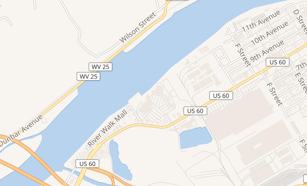map of 21 River Walk MallCharleston, WV 25303