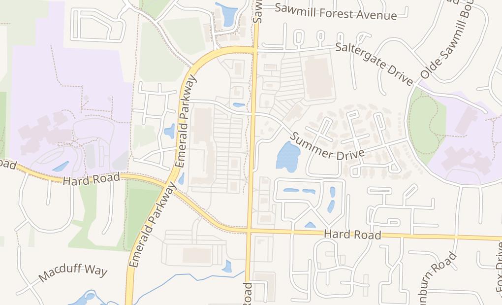 map of 7569 Sawmill RdDublin, OH 43016
