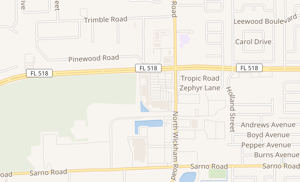 map of 1270 N Wickham Rd Ste 44Melbourne, FL 32935